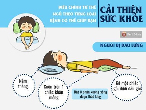 Điều chỉnh tư thế ngủ theo từng loại bệnh có thể giúp bạn cải thiện sức khỏe