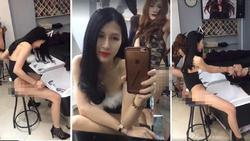 Vừa mãn hạn tù, hot girl chuyển giới Trâm Anh tung ảnh phản cảm tại salon tóc