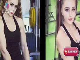 Video: Người đẹp mặt búp bê, thân hình lực sĩ nâng tạ khủng 140kg