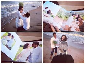 Ảnh cưới ngọt ngào của diễn viên Nguyệt Ánh và chồng Ấn Độ