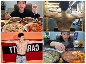 'Thánh ăn' Hàn Quốc bất ngờ khoe cơ bụng 6 múi