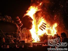 Sân khấu công chiếu 'Kong: Skull Island' tại TP.HCM bốc cháy dữ dội vì màn múa lửa