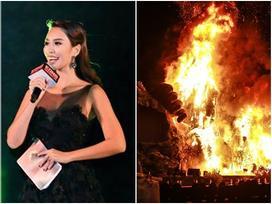 Vì sao siêu mẫu Hà Anh không tháo chạy dù sân khấu 'Kong: Skull Island' bị thiêu rụi kinh hoàng?