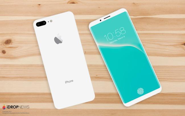 Mãn nhãn với vẻ đẹp tinh tế của iPhone 8 có màn hình cong tràn cạnh - Ảnh 1.