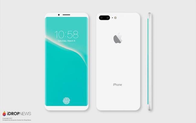 Mãn nhãn với vẻ đẹp tinh tế của iPhone 8 có màn hình cong tràn cạnh - Ảnh 2.