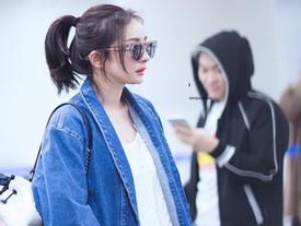 Dương Mịch nổi bật với style cực chất ở sân bay