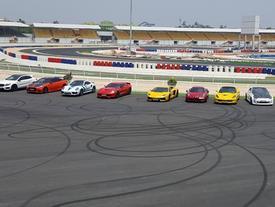 """Siêu xe và xe thể thao cao cấp hội ngộ tại trường đua 2.000 tỷ Đồng của Dũng """"lò vôi"""""""