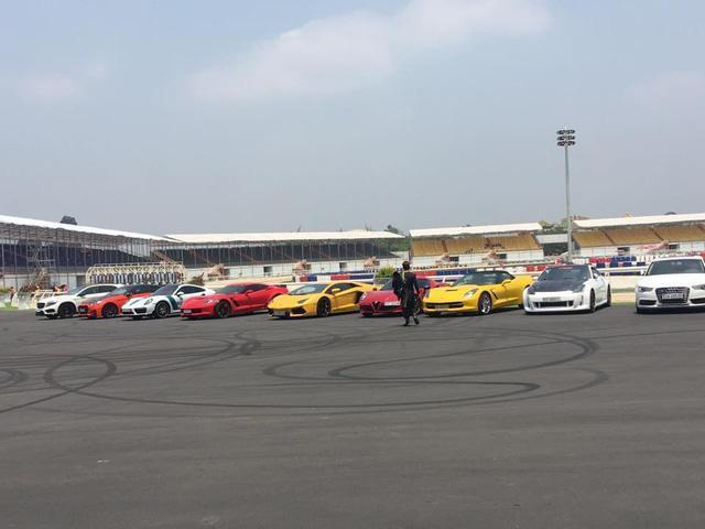 Siêu xe và xe thể thao cao cấp hội ngộ tại trường đua 2.000 tỷ Đồng của Dũng lò vôi - Ảnh 1.