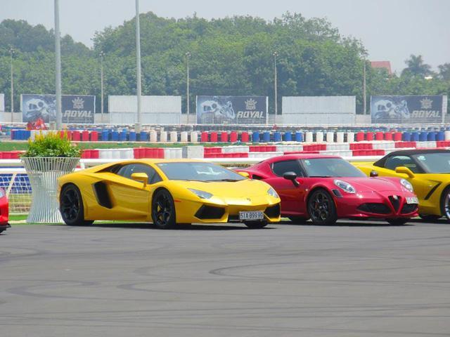 Siêu xe và xe thể thao cao cấp hội ngộ tại trường đua 2.000 tỷ Đồng của Dũng lò vôi - Ảnh 9.