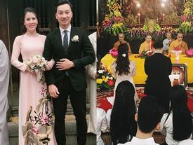 MC Thành Trung và vợ 9X bí mật làm lễ hằng thuận tại chùa