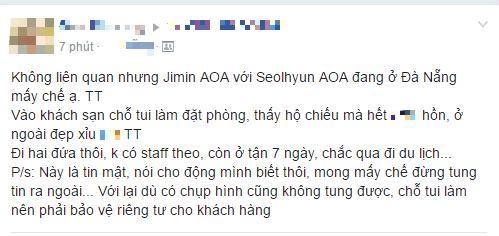 Rộ tin mỹ nhân thế hệ mới Seolhyun và thành viên Jimin (AOA) đang ở Việt Nam! - Ảnh 2.