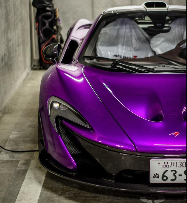 Đại gia Nhật gây choáng với bộ áo tím cho siêu xe McLaren P1 - Ảnh 9.