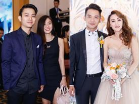 Hoài Lâm nắm chặt tay bạn gái đến chúc mừng đám cưới Mai Quốc Việt