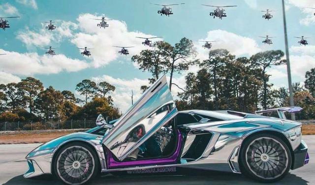 Lamborghini Aventador SV mui trần nổi bật với bộ cánh mạ crôm phối tím - Ảnh 3.