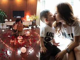 Anh chồng 'tâm lý nhất Vịnh Bắc Bộ' mở tiệc 'song sinh' siêu lãng mạn tặng vợ con