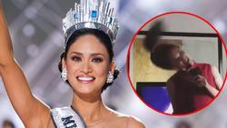 Lộ clip cực hiếm hình ảnh Hoa hậu Hoàn vũ Pia Wurtzbach 'quẩy' karaoke quá máu lửa
