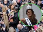 Hàng ngàn người Pháp ra phố ăn mừng Hoa hậu Hoàn vũ 2016 Iris Mittenaere về nước