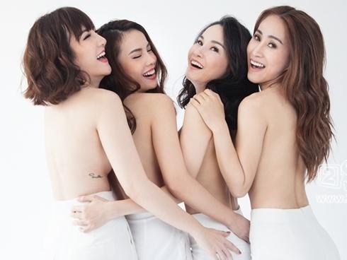 Sau 10 năm, Yến Trang và nhóm Mây Trắng lần đầu tụ hội trong bộ ảnh bán nude táo bạo
