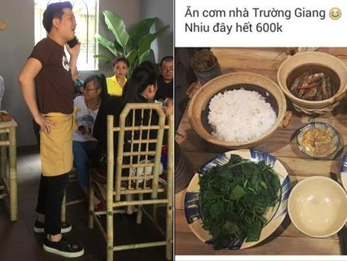 Danh hài Trường Giang lên tiếng về quán cơm bị chê 'giá cắt cổ, phục vụ lơ ngơ'