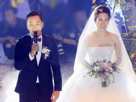 Ngay trong tiệc cưới, Thành Trung và vợ có màn định giá tài sản khiến quan khách phì cười