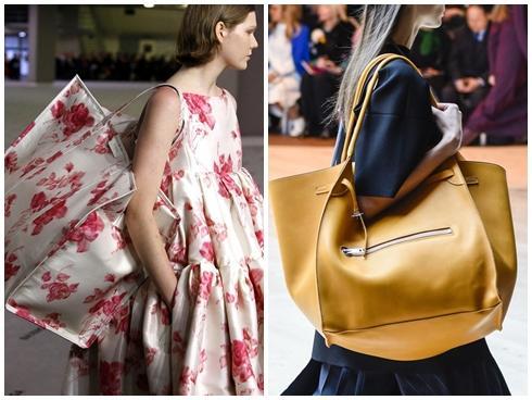 Túi đi chợ hot nhất sàn diễn thời trang thu 2017