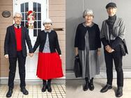 Giới trẻ cũng phải kiêng nể trước gu mặc đồ đôi cực 'chất' của cặp vợ chồng U70