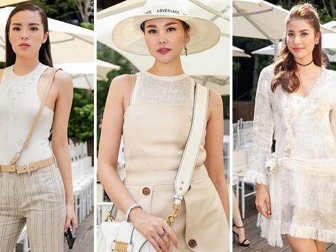 Bất chấp thời tiết nắng nóng, dàn sao Việt vẫn rực rỡ xiêm y đi xem thời trang
