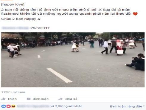 Sự thật màn tỏ tình giữa hai cô gái gây xôn xao trên phố đi bộ