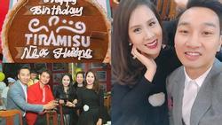 Bà xã MC Thành Trung khoe tiệc sinh nhật hoành tráng do chồng tổ chức
