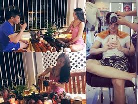 FB 24h: Thủy Tiên, Công Vinh thưởng trà cùng nhau - Vĩnh Thụy sang sửa 'góc con người'
