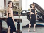 """""""Nữ hoàng nội y"""" Ngọc Trinh ngồi BMW i8, khoe lưng trần tham gia sự kiện tại Sài Gòn"""