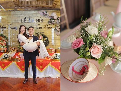 Lễ ăn hỏi độc đáo với nón lá của cô dâu Việt và chú rể Hàn