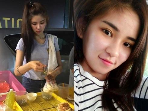 Cô gái bán bánh bất ngờ nổi tiếng trên mạng vì xinh như hot girl