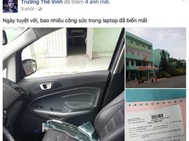 Trương Thế Vinh bị trộm đập vỡ cửa kính xe