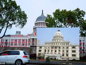 Trường học Trung Quốc xây nhái Tòa nhà Quốc hội Mỹ, sinh viên ngỡ ngàng tưởng vừa được 'xuyên không'