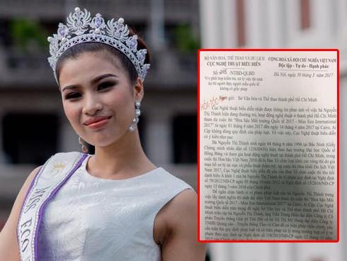Cục NTBD gửi công văn hỏa tốc triệu tập xử lý 'người đẹp thi chui' Nguyễn Thị Thành