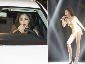 Hương Tràm 'nóng bỏng' khi lái xe tiền tỷ đến hát tại The Remix