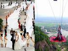 Không đỡ nổi những đám cưới kì lạ nhất TQ: đón dâu bằng xe tang, chú rể mặc váy cưới...