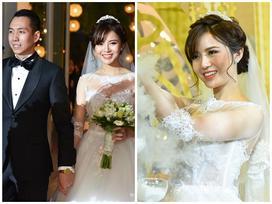 Hot girl Tú Linh rạng rỡ bên chồng trong ngày cưới