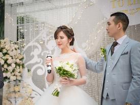 Hot girl Tú Linh rơi nước mắt khi tiết lộ mối nhân duyên đặc biệt với chồng trong ngày cưới