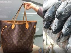 Cụ bà dùng túi xách hàng hiệu hơn 40 triệu đồng chỉ để... đựng cá sống