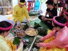 Đủ loại bánh chưng Sài Gòn nấu cúng giỗ Tổ