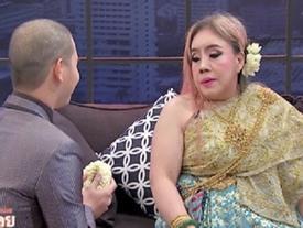 Nữ đại gia Thái Lan suýt đánh nhau với chồng thứ 9 trên truyền hình