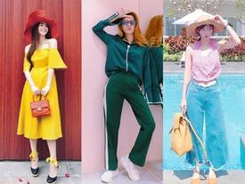 Street style sao Việt tuần qua: mỹ nhân 'lên đồ' 7 sắc cầu vồng rực rỡ chào hè