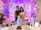 Vợ chồng Lam Trường tổ chức lễ đầy tháng cho con gái tại Mỹ