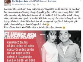Quỳnh Anh Shyn lên tiếng xin lỗi fan Jessica vì xuất hiện trong clip nhại 'nữ hoàng băng giá'
