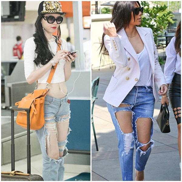 0ef6d385d1e6dd617cbde58aece75af1 Sao Việt, sao ngoại thi nhau diện jeans rách te tua
