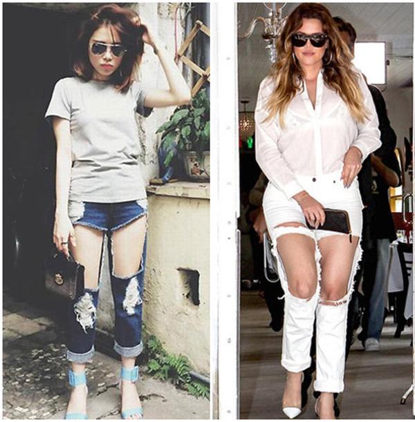 55a641dc58f85bfe39d0b9b414c6b03a Sao Việt, sao ngoại thi nhau diện jeans rách te tua