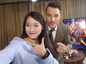 MC nói 7 thứ tiếng Khánh Vy sang Nhật phỏng vấn dàn sao Hollywood