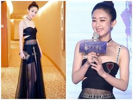 Triệu Lệ Dĩnh diện váy hở bạo trong buổi họp báo phim 'Tây Du Ký: Nữ Nhi Quốc'